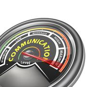 Stock Illustration of vector communication conceptual meter indicator