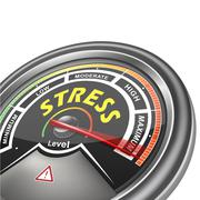 Stock Illustration of vector stress conceptual meter indicator