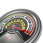 Vector pollution conceptual meter indicator Stock Illustration