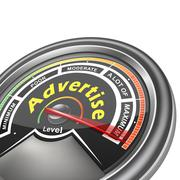 Vector advertise conceptual meter indicator Stock Illustration