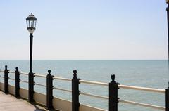 Streetlamp on pier at worthing. sussex. england Stock Photos