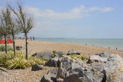 worthing seafront. sussex. england - stock photo