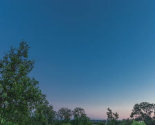 Milky way sky sunset night holy grail timelapse Stock Footage