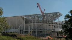 Building works of New UEFA euro 2016 Stadium in Timelapse 5 - stock footage