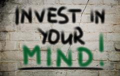 Stock Photo of invest in your mind concent