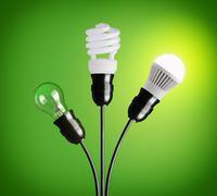 Evolution of light bulbs Stock Photos