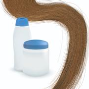 vector long hair on white background. - stock illustration