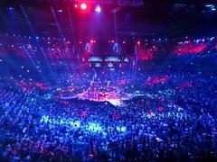 Concert of vlado georgiev at kombank arena in belgrade serbia Stock Photos