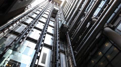 Elevators timelapse Stock Footage