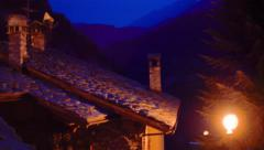 Houses in italian alps - stock footage