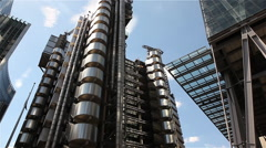 Lloyd's building in London timelapse - stock footage
