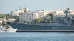 Commander takes Marine Parade - stock footage