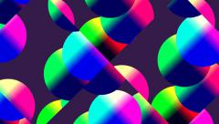 Rotating colored balls Stock Footage