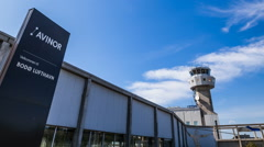 Bodø airport tower time-lapse 1080p25 Stock Footage