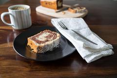 marble cake - stock photo