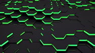 Stock Video Footage of 3D Loop Hexagonal Motion Graphic Background