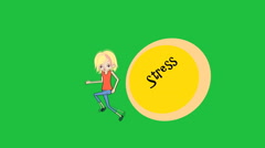 """Running from Stress"", female Character:  Looping Stock Footage"