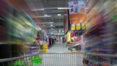 Fast Shopping Cart Stock Footage