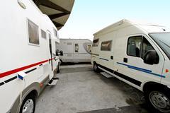 camper site - stock photo