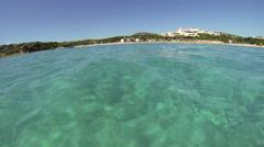 Snorkeling at the Costa Smeralda in Sardinia, Italy Stock Footage
