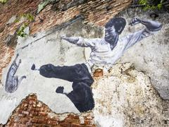 Stock Photo of Street Art Mural in Georgetown, Penang, Malaysia