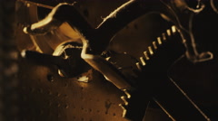 Old Clock Gears Mechanism 7 - stock footage