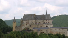 Medieval castle in small town Vianden. Stock Footage
