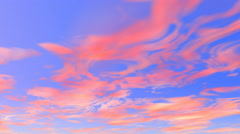 Sunset sky Animation 4k clouds movement Stock Footage