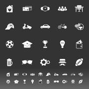 Normal gentleman icons on gray background Stock Illustration