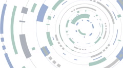 Stock Video Footage of Animation of a abstract white hud