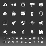 Smart phone screen icons on gray background Piirros