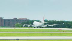 Chinese Airlines Boeing 747 Cargo Airplane in Atlanta Stock Footage