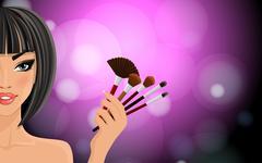 Make up background Stock Illustration