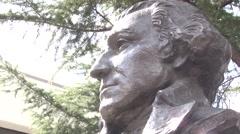 George Washington University - School of Medicine statue bust Stock Footage
