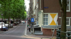 Romantic Leidsegracht in Amsterdam film location of The Fault in our stars Stock Footage
