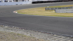 Minardi f1 car at the Zandvoort race track Stock Footage