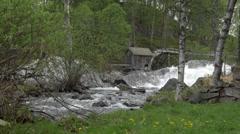 1080p, atnbrufossen vannbruksmuseum, norway Stock Footage