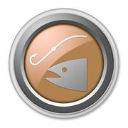 Stock Illustration of icon, button, pictogram fishing, angling