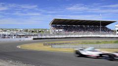 Minardi F1 car at the Zandvoort race track - stock footage