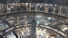 Interior luxury Galeries Lafayette Berlin city famous shopping mall business day Stock Footage