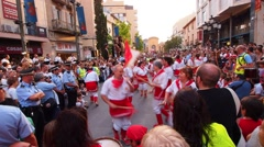 Traditional Catalan Dance Stock Footage