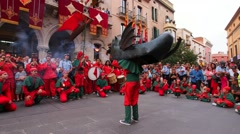 Festa Mayor de Terrassa 2013, Catalonia, Spain Stock Footage