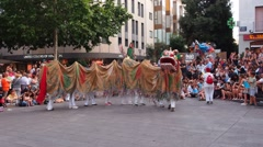 Dragon Dance in Terrassa, Catalonia, Spain Stock Footage