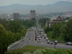 Boise, Idaho - Highway traffic - stock footage