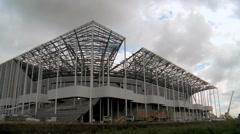 Building works of New UEFA euro 2016 Stadium in Timelapse 8 - stock footage