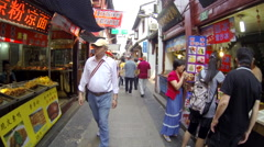 Qibao Market Slo-Mo frontview 2 30fps Stock Footage