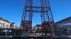 The Vizcaya Bridge in Portugalete Stock Footage