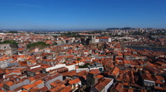 View from Clerigos Tower in Porto Stock Footage
