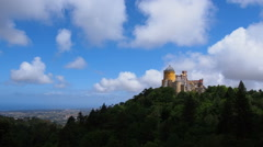 Pena National Palace in Sintra Stock Footage