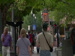 Boise, Idaho - Sidewalk scene 1 Stock Footage